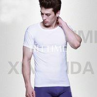 2014 Men's Slim Fit Crew Neck T-shirt Short Sleeve Muscle Top Tee Denim Blue 7 Colors # 56674