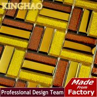 2014 Glass Brick Backsplash [kinghao] Ship Wheel Building Material Glass Tile Wall Cladding Living Art Silver Wallpaper Kf154812