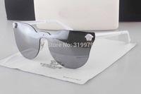 Free Shipping wholesale  2014 Luxury brand fashion mirror sunglasses women /men star style big eyeshape--VE2120