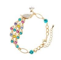 2014 New Austrian Crystal Exotic Peacock Bracelet Retro Bangles for Women Vintage Bracelets Gold Bracelets & Bangles ML-442