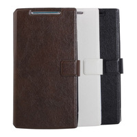 Free shipping and gift 2014 Newest!! Protective Leather case for CUBOT X6 phone case for smart phone black white brown