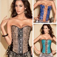 Details about  Sexy Ladies Lace Boned Bustier Basques Women Corset Lingerie Sets Plus Size