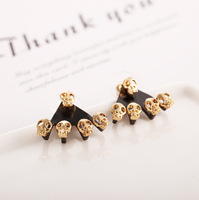 New Trendy Europe Street Style Mini Skeleton Women Fashion Stud Earrings (24 pairs/lot)