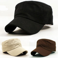 Classic Plain Vintage Army Hat Cadet Military Patrol Cap Adjustable Many Color #5679