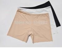 New 2014 Ice silk fiber Women Underwear Panties mid waist Sexy female girl'Ultra-thin seamless Boxer black M Ladies'intimates