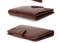 Cheap Brand Men's Wallet Cowhide Leather Long Men's Checkbook coin Zipper Suit Wallet Purse