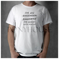 ENGINEER GOOD WITH MATHS FUNNY t-shirt cotton Lycra top Fashion Brand t shirt men new 2014 DIY Style High Quality