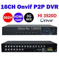 16ch Hybrid dvr NVR 3 in 1 Onvif P2P CCTV DVR Recorder HDMI 1080P alarm Rs485 cctv dvr