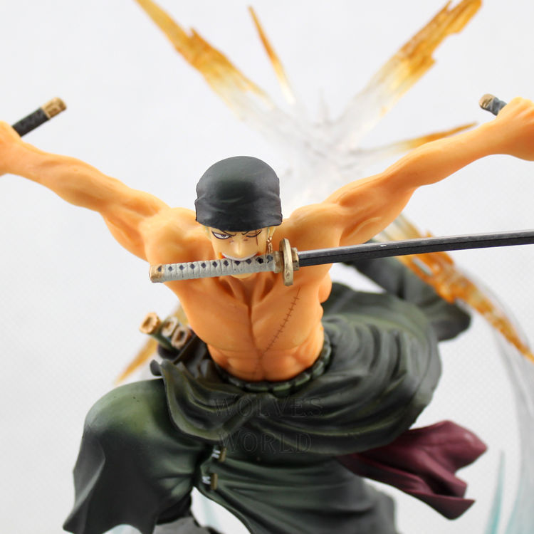 Free Shipping 17cm PVC Action Figures Japanese Anime Two Years Later New World One Piece Toys Figures Roronoa Zoro Doll Model(China (Mainland))