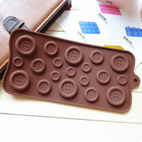19 hole--button Silicone Cake Mold Handmade Mold Chocolate Mould Ice tray cube pudding mould handmade soap mold Baking tools