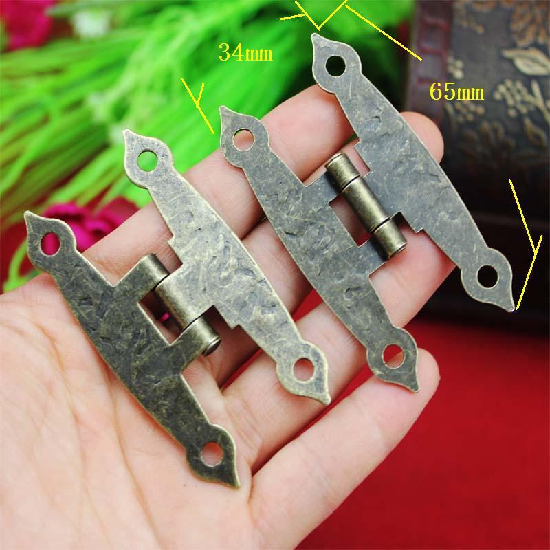 65 * 34MM antique wooden box hinge metal hinge H-type 4-hole flat piece H-type hinge link(China (Mainland))