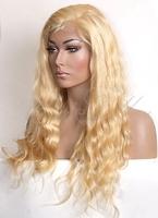 Free shipping 100% Brazilian human virgin hair color613# silk top full lace wig 10''-30''inch in stock
