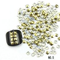 2000pcs/lot Gold Different Shape Metal Nail Art Decoration 3d Metallic Nail Studs DIY Nail Beauty Accessories