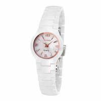 Stylish slim quartz watch ceramic female form