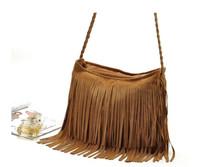 2014 Hot Sale Tassel Women Leather Handbags Fashion Messenger Bags Cross Body Shoulder Wholesale Free Shipping