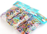 300PCS*2Free Shipping Loom Bands set Fun Loom Rubber Kit DIY Bracelets Colorful Children Toy Gift For Charm Bracelet