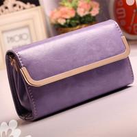 Promotion small women clutch handbag candy color Japanned leather lady girl clutch bag fashion shoulder