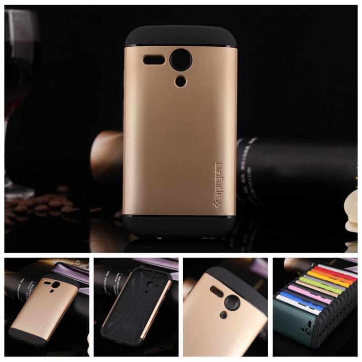 2014 NEW 1PCS SLIM ARMOR SPIGEN SGP phone bags Cases for Motorola MOTO G XT1028 XT1032 XT1031 silicone Of plastic+1x screen film(China (Mainland))