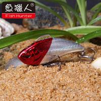 Fish Hunter 3pcs/lot 70mm 18g new fishing lure with VMC hooks sinking hard plastic bait for fish VIB bait  ZV01B