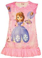 new 2014 summer sofia girl print dress brand children casual kidsdress POLYESTER kids clothes party pajamas
