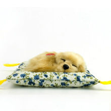 Free Shipping !  1/6 Scale Dollhouse Miniature Furniture ~ Pet Dog Voice Sound Toy sleeping puppy  voice dog with mat(China (Mainland))