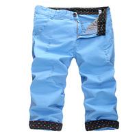 2014 summer fashion casual slim hole men shorts