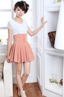 Dropshipping!2015 Summer high waisted skirt Fashion All-match skirts Female saias femininas