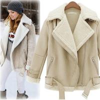 Free Shipping 2014 Winter Warm Coats Women Wool Coat Winter Jacket Women Long Sleeve Woolen Overcoat Thick Warm Coats Fleece