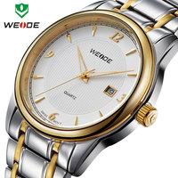 30m waterproof WEIDE 2014 new relogio fashion Japan movement analog calendar full steel watches men watches sport watch