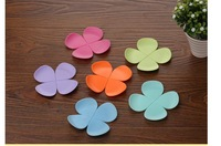 Creative dimensional flower-shaped anti-scalding coffee pad heat pad silicone coaster cup mat 10pcs/lot