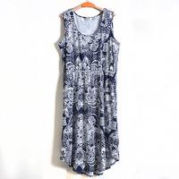 4XL 5XL 6XL Plus Size Casual Vintage Women Floral Print Long Dress Maxi Tank Sundress Big Large XXXXL XXXXXL 2014 New Summer