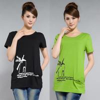 Women T shirt Fashion House Print Cotton T Shirt Ladies Elegant Plus Size T shirt Women Clothing Round Neck Causal Tops Tees
