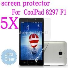 5pcs 5.5″ Coolpad F1 8297W MTK6592 Octa Core screen protector.ultra-clear protective film For coolpad f1.coolpad  8297w screen
