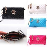 HOT New 2014 Fashion Luxury Patent Leather Handbags Retro Chain Women Clutch Bags Women Messenger Bags