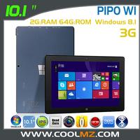 "2014 Original Pipo Work W1 3G Windows 8.1 Intel Baytrail T Quad Core 1.8GHz Tablet PC 10.1"" IPS 1280x800 2GB RAM 64GB HDMI OTG"