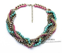 2014 New African Jewelry Luxury Coral Beads Choker Necklace For Women