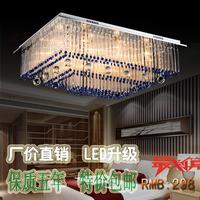 2014 Rushed New Abajur Lustres Home Decoration Living Room Lights Rectangle Crystal Pendant Light Modern Brief Led Bar Lamps