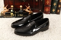 The new 2014 European and American style opening edge ball business gentleman men's shoes free shipping