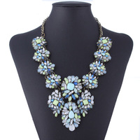 Famous Brand Multi Color Resin Shourouk Necklace 2014 Summer Fashion Jewelry Orders 150USD DHL Free Shipping