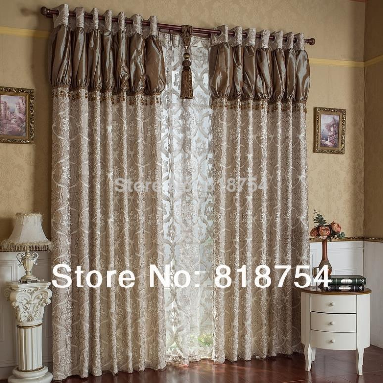 Home curtain design living room curtains luxury jacquard for Bedroom curtains designs