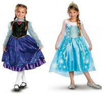 5pcs/lot,Hot Frozen Queen Girl Anna Elsa Dressing Princess TUTU Dress For 3-8 Year Kid Girl,wholesale