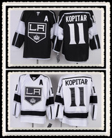 Free Shipping Wholesale #11 Anze Kopitar Jersey,Los Angeles Kings Black/White Jerseys,Name And Number Are Sewn On