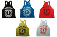Professional New golds gym vest with Gold Brand sport tank, bodybuilding &Men workout tank tops,100% cotton ,High Quality,M-XXL