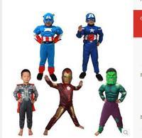 Diffuse xiang children avengers alliance Halloween costume children's clothes iron man thor hulk captain America