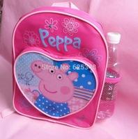 New 1 pcs! Peppa pig backpack children school bags, for girls boys kids cartoon bag mochila infantil mochila peppa pig bolsas