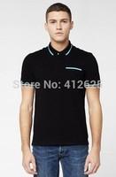 2014 Men Brand crocodile 100% Natural Cotton T-shirts,Vogue Lapel Short Sleeve Live! sportswear ,4 colors sweatshirt 2xl
