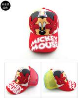 Retail New 2014 Baby boys girls Summer Hats Child Cartoon Mickey Minnie mouse Caps Kids sun Hats Cartoon baseball cap