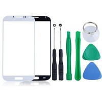 Free Shipping Outer Screen Panel Glass Lens Replacement With Tools Kit Compatible For Samsung Galaxy S4 SIV i9500