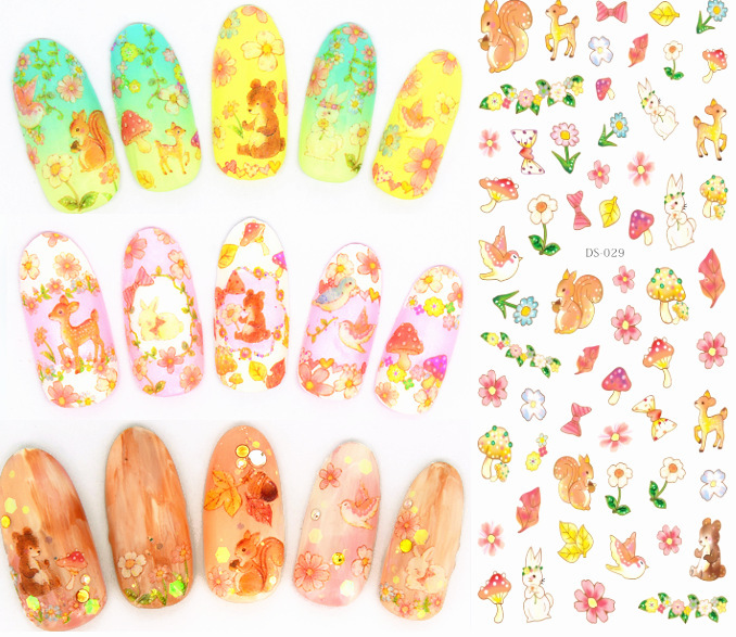 wholesale 3 pcs nail art stickers water decals nail sticker South Korea nail stickers nail art decorations DS27-29(China (Mainland))