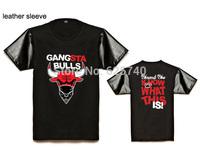 Gansta bulls t-shirt free shipping hip hop tees money bulls shirt brand new 2014 hiphop tops mens summer short sleeve casual tee